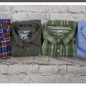 Kid's Button Up Shirts Lot of 4  Size 8